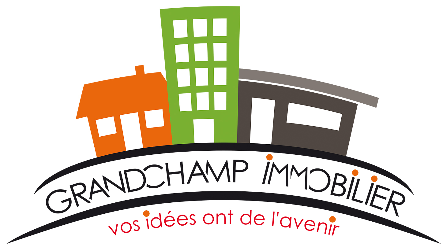 Logo Grandchamp Immobilier 500mm RVB