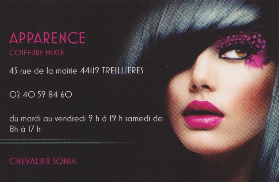 COIFFURE APPARENCE TREILLIERES